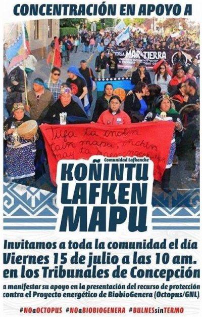 Convocatoria a concentración en solidaridad con la comunidad