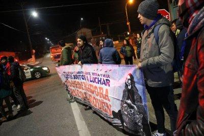 Manifestación en repudio a represión y criminalización de movimiento
